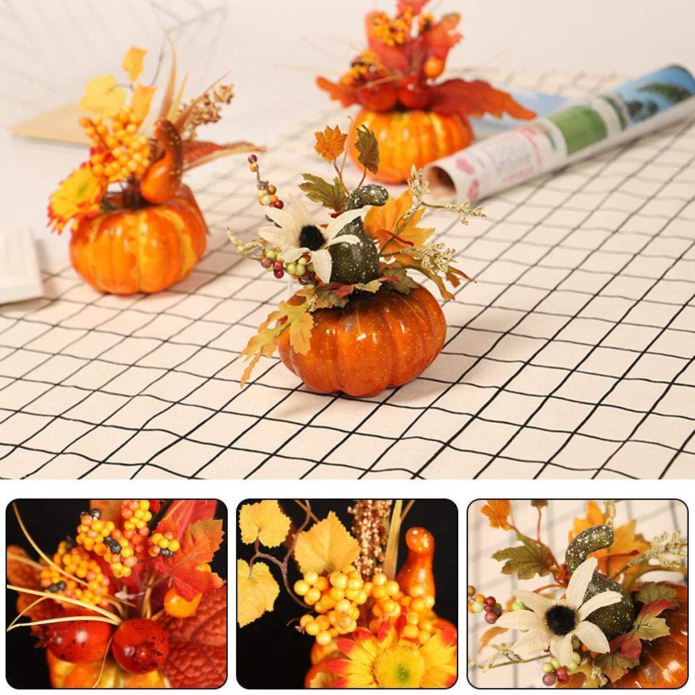 Halloween Simulation 3D citrouille feuille d/érable Grenade D/écoration de la maison Accessoires de table Set
