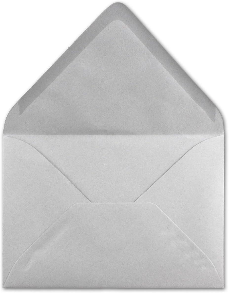 Kuverts mit Nassklebung ohne Fenster f/ür Gru/ß-Karten /& Einladungen DIN C6-114 x 162 mm Serie FarbenFroh/® 300 Brief-Umschl/äge Hell-Grau