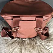 Amazon.com: MF Store - Mochila para pañales, de piel, con ...