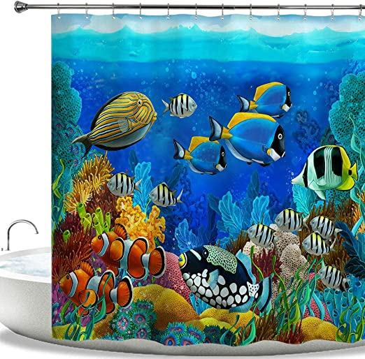 GLOW Coral Reef T-shirt Youth M /& L New Nature Ocean Water Sea Life Fish Turtle