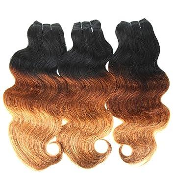 amazon com 7a 100 brazilian virgin human hair weave bundles t1b