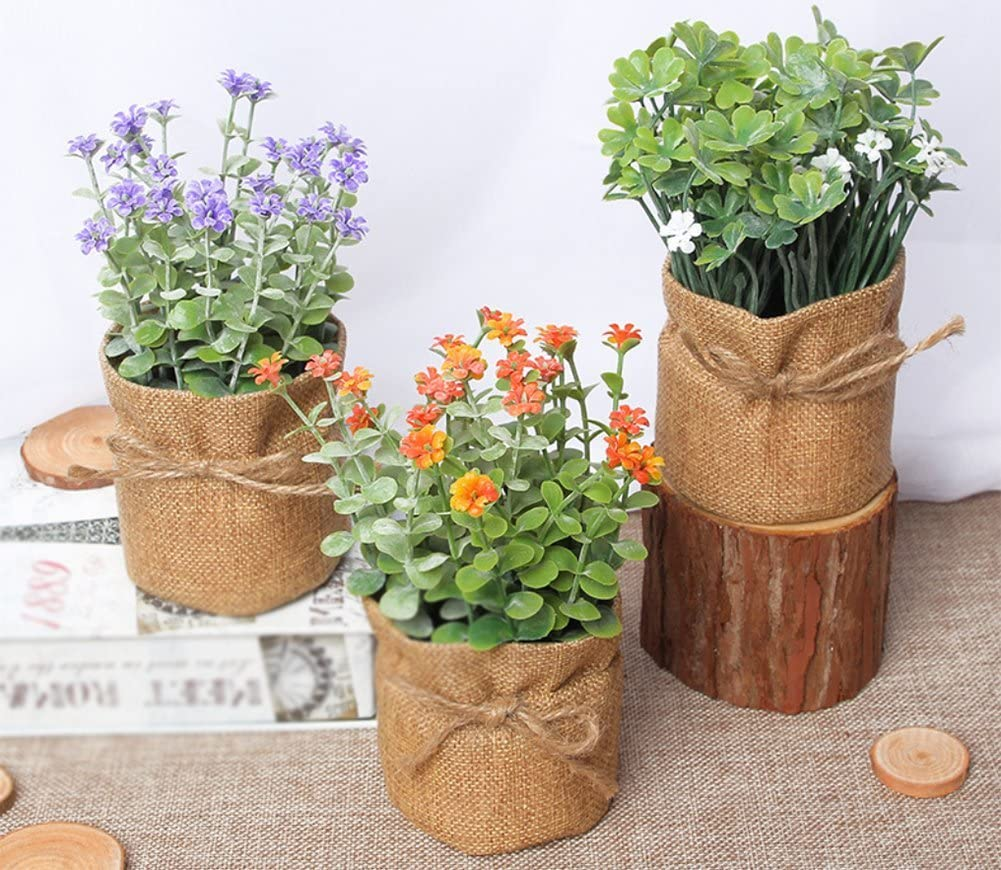 Outflower Pot de fleurs artificielles Style pastoral Blanc 7,5/x 16,5/cm 7.5*16.5cm orange