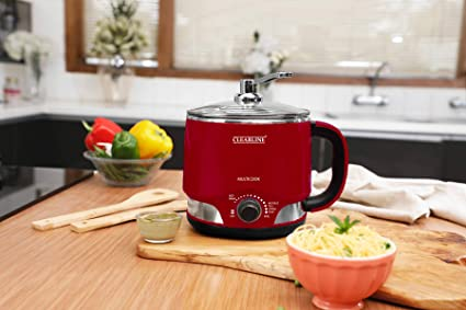 Clearline 8-in-1 Multi-Cook Kettle : Wine Red Colour - One Appliance : Multiple Function