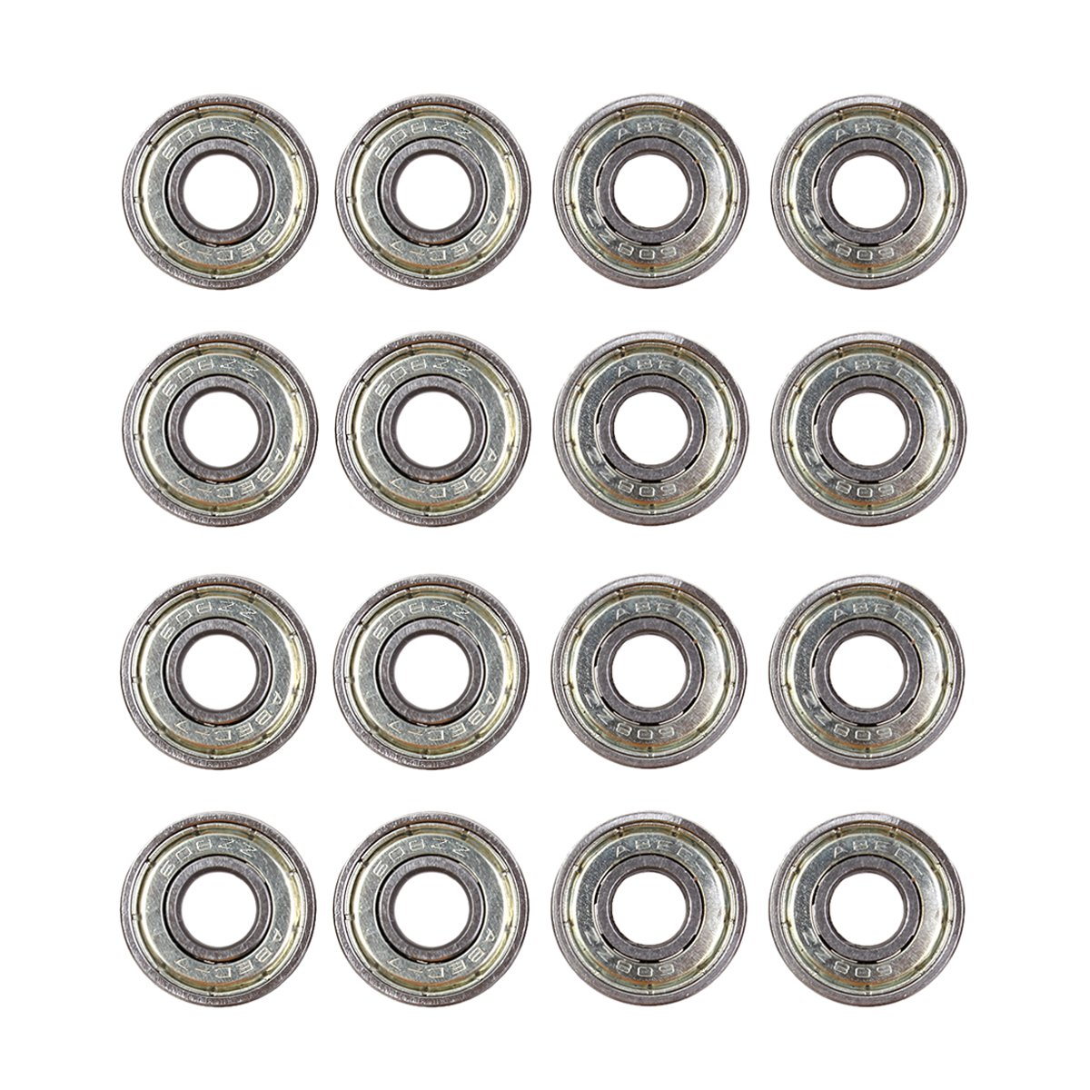 Natuworld 8/16/24pcs Both side Shielded 608 ZZ ABEC-7 Carbon Steel Bearings for Skateboards,Inline Skate, Scooter, Rollerblade