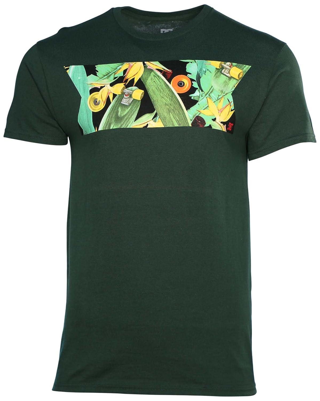 DC Shoes Men's Ribbon Skateboarding T-Shirt-Olive Green