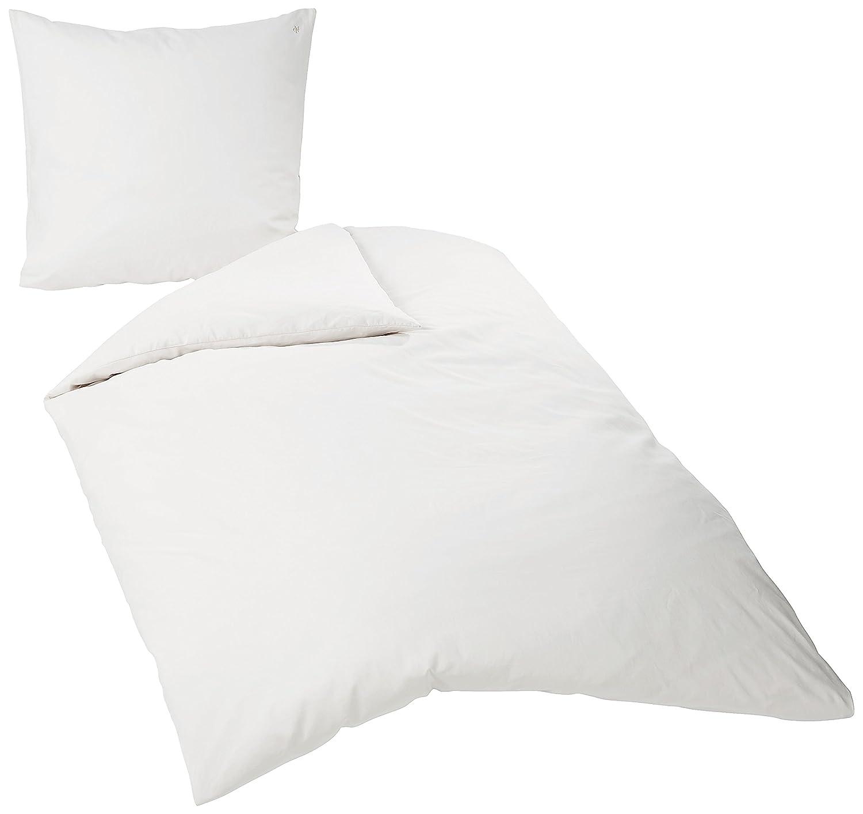 Marc O'Polo Bettwäsche 730088-100DE-010 Washed Linen, 1 Person-Set 155 x 220 und 80 x 80 cm, 60% Baumwolle, 40% Leinen, weiß