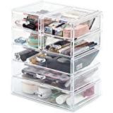 Makeup Organizer EZOWare Acrylic Cosmetic Organizer with 7 Drawer Display Storage Container Box Case for Jewelry, Beauty Products, Supplies and more - Clear