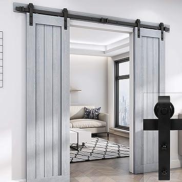 Belleze - Herramientas para puerta corredera clásica de madera ...