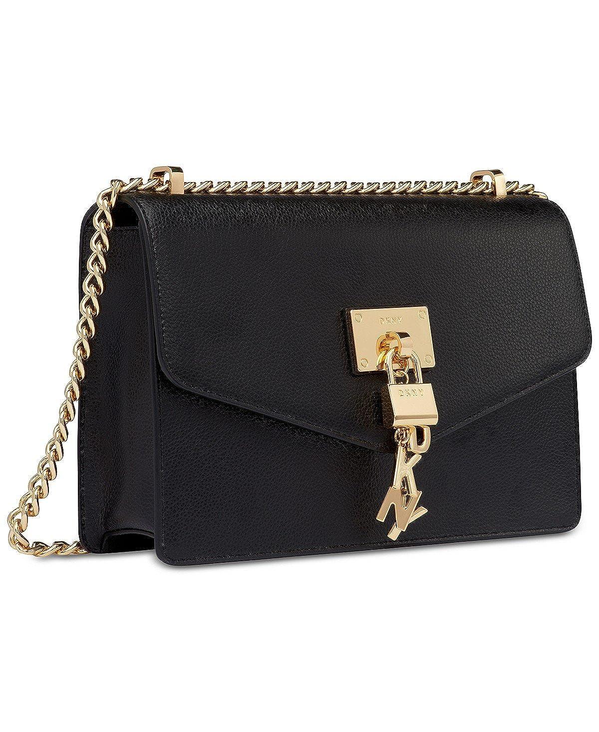 d2dee52d2 DKNY Elissa Medium Chain Strap Shoulder Bag (Black): Handbags: Amazon.com