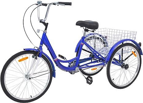 DoCred Bicicleta de Tres Ruedas para Adultos 24/26/20 Pulgadas ...