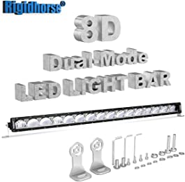 LED Light Bar Rigidhorse 38 Inch 300W 8D Dual-Model Light Bar DRL/Night Light Spot Light For SUV Truck ATV Pickup