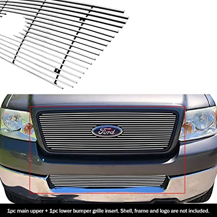 Fits 2004-2008 Ford F-150 Honeycomb Style Black Stainless Steel Billet Grille