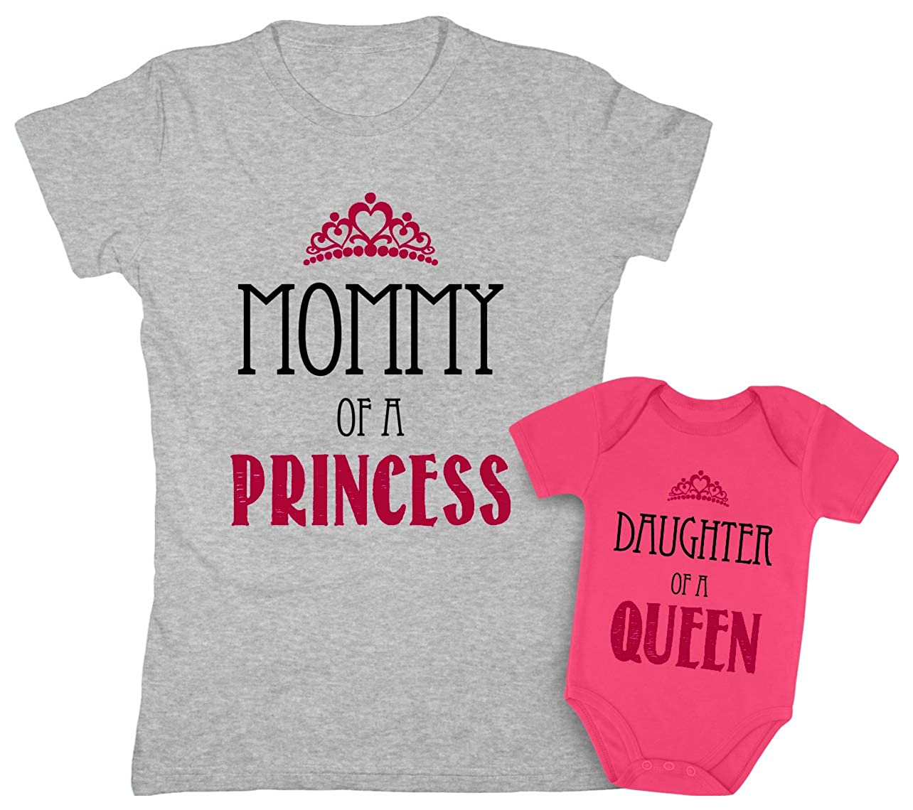 Mother /& Daughter Matching Set Gift for Mom /& Baby Girl Bodysuit /& Women Tee