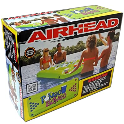 Airhead Inflatable Beer Pong Table Floating Water Game Party Pool Lounge Lake Beach WLM8: Toys & Games