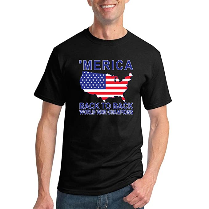 195119f0 Back to Back World War Champs | Merica | Mens American Pride Graphic T-Shirt