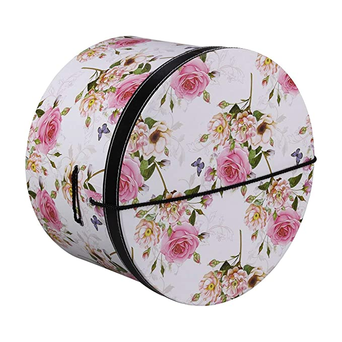 Lierys Caja Sombrero Pink Flowers 38 cm by Mujer  2e46118421b