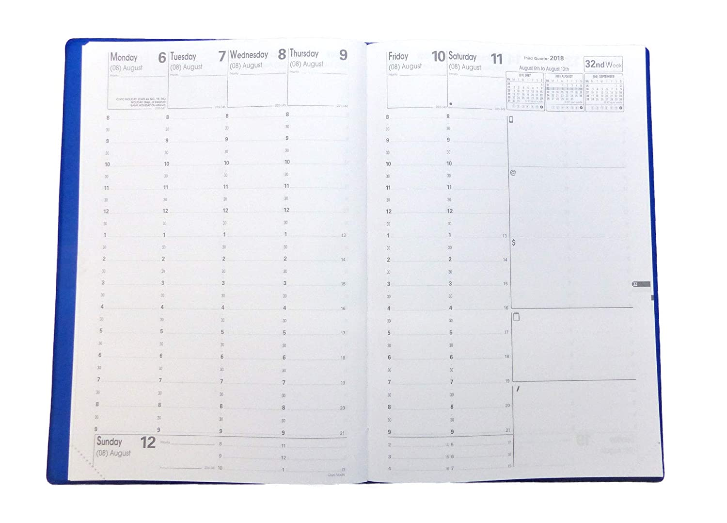 Quo Vadis Academic Minister - Weekly/Monthly Planner - Compact - 13 Months, July to July - 6 1/4 x 9 3/8