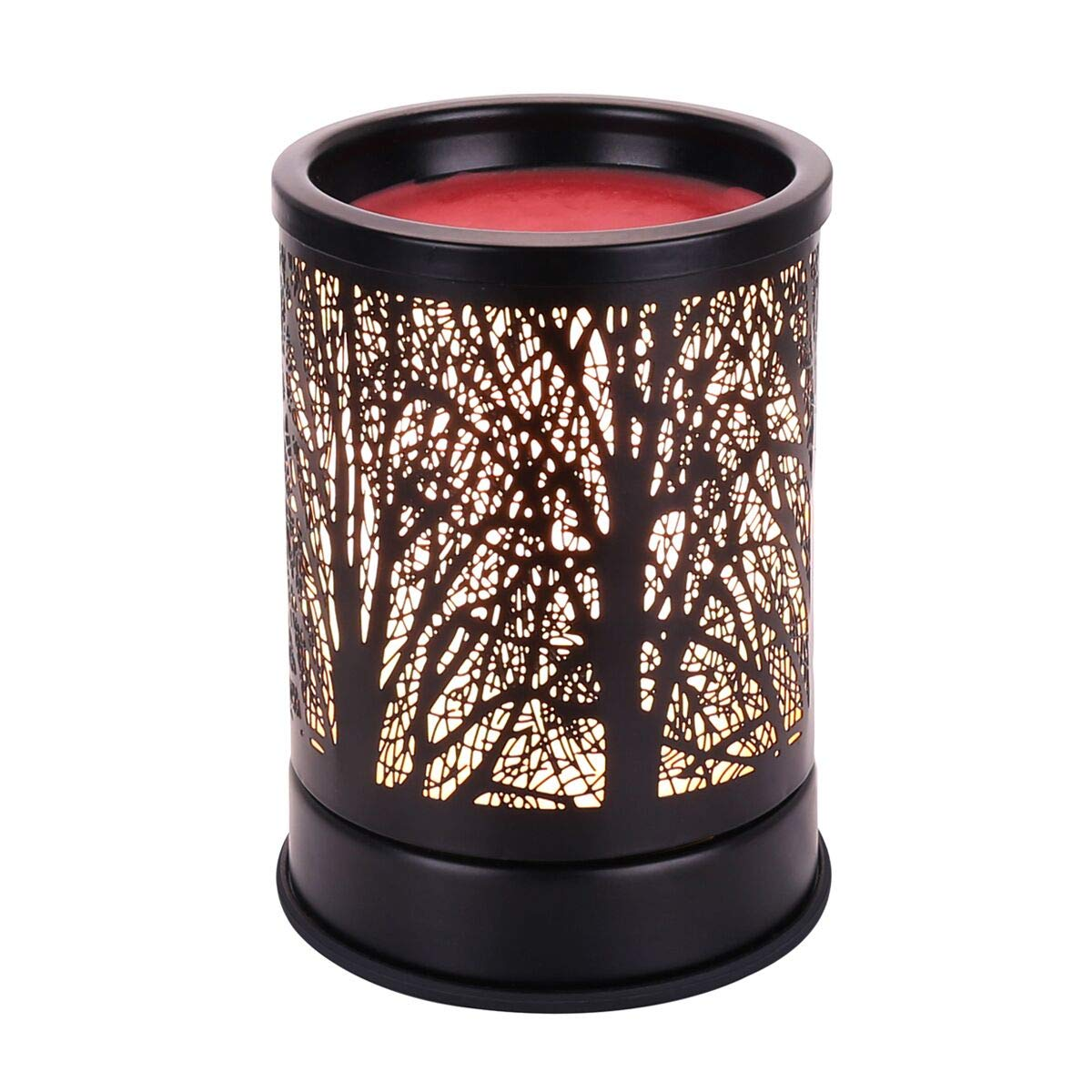 JUWA Wax Warmer Electric Scented Candle Warmer Essential Oil Heater Black Metal Forest Design for Home Decor