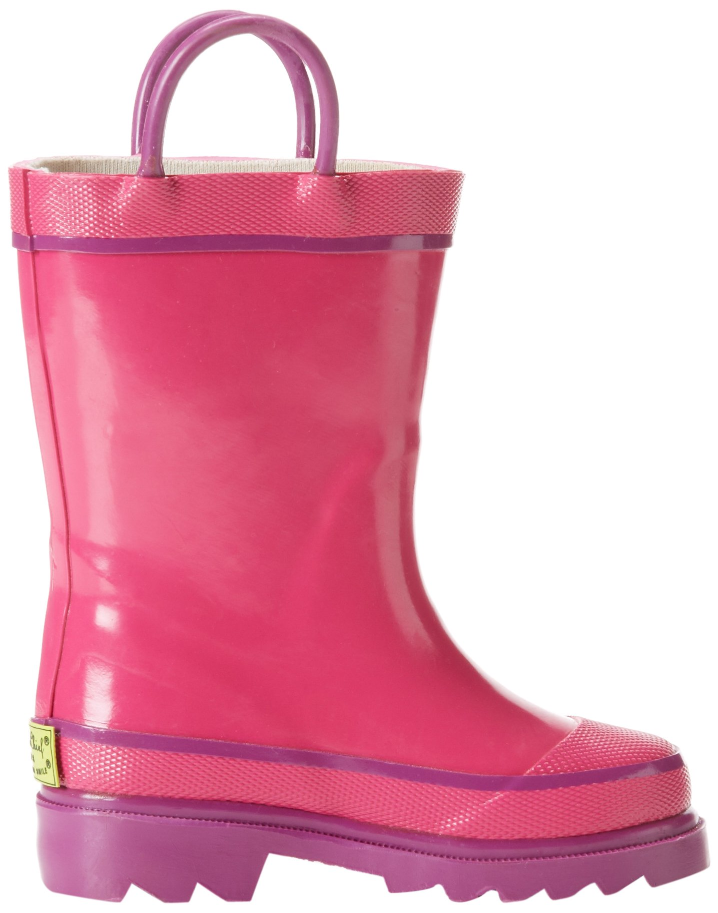 Western Chief Kids Waterproof Rubber Classic Rain Boot with Pull Handles, Pink, 7 M US Toddler by Western Chief (Image #6)