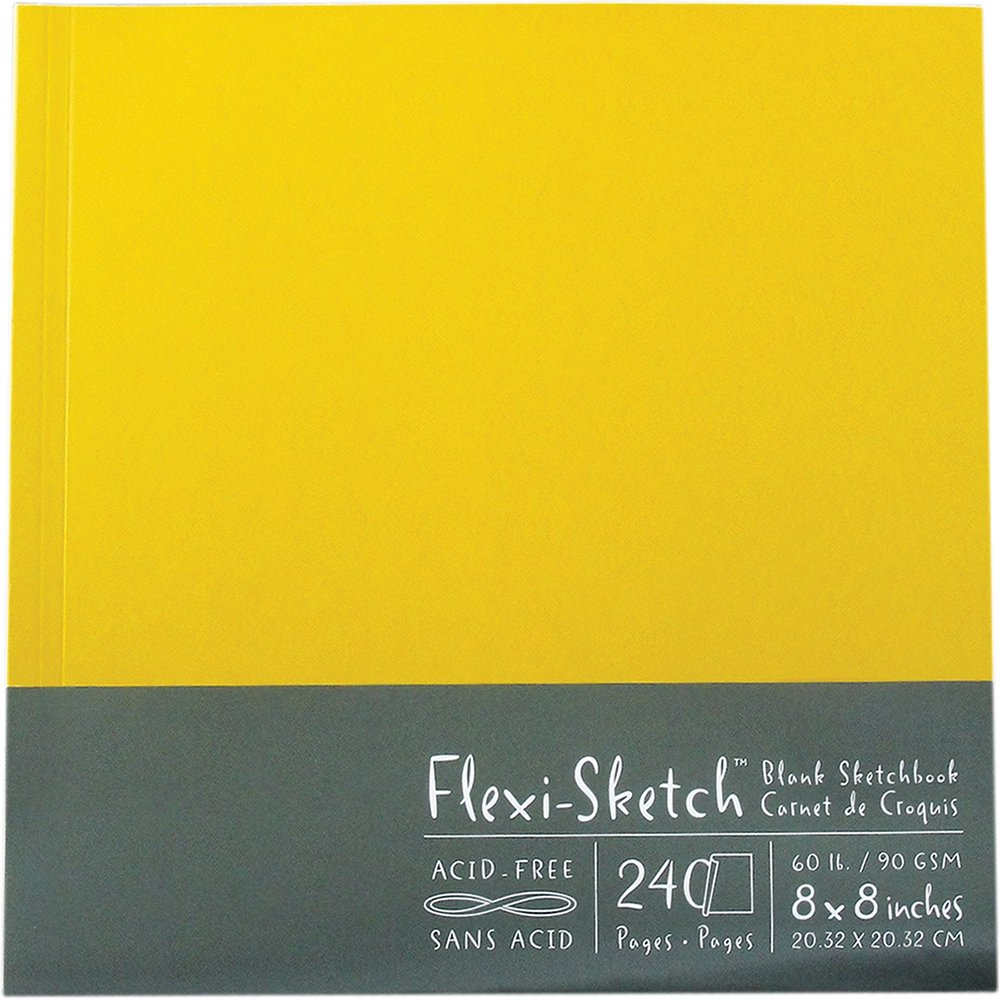 Global Art Flexi-Sketch Sketchbook vuoto 8X 8-120 pagine-Butternut