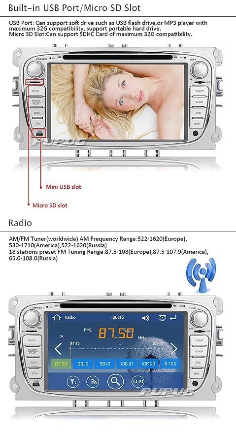 7-inch digital touchScreen bluetooth Car DVD Player GPS navi car stereo  Radio For Ford Focus 2008-2010 FAST 800 MHz CPU Built-in Bluetooth FM AM  radio