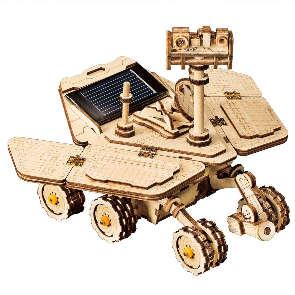 3D Wooden Puzzle, Mechanical Solar Energy Powered Model Kits, Engineering Model Construction Kit,Space Hunting Opportunity Rover for Adults and Teens