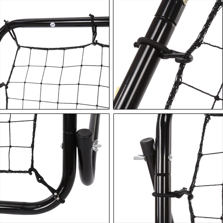 Oguine Multi-sport Baseball Softball Lacrosse Rebounder Pitchback Screen Return Trainer Net,44'' x 64'' Adjustablel Practice Screen by Oguine (Image #5)