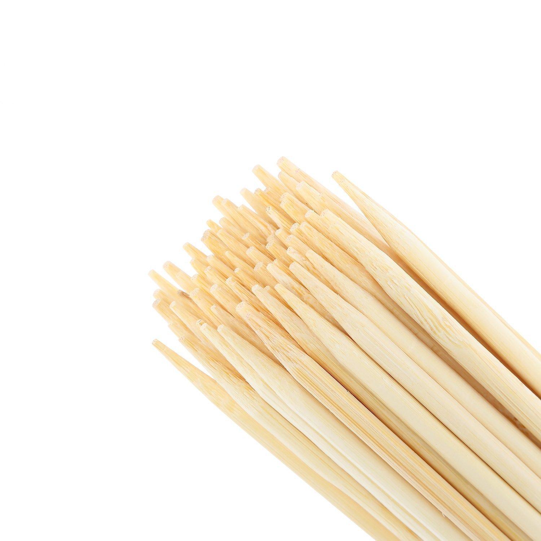 4pulgadas 10cm * 4mm bambú pinchos para asar de incienso, perfecto para perritos calientes, Kebabs, salchicha, Eco y ambientalmente seguro 100% biodegradable 250Sticks NJ