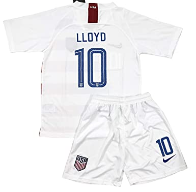 b8223aeb138 New 2018-2019 Carli Lloyd #10 USA National Team Home Soccer Jersey & Shorts