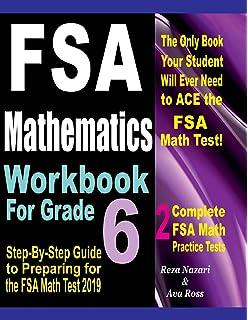 Florida Standards Assessments Prep: 6th Grade Math Practice Workbook
