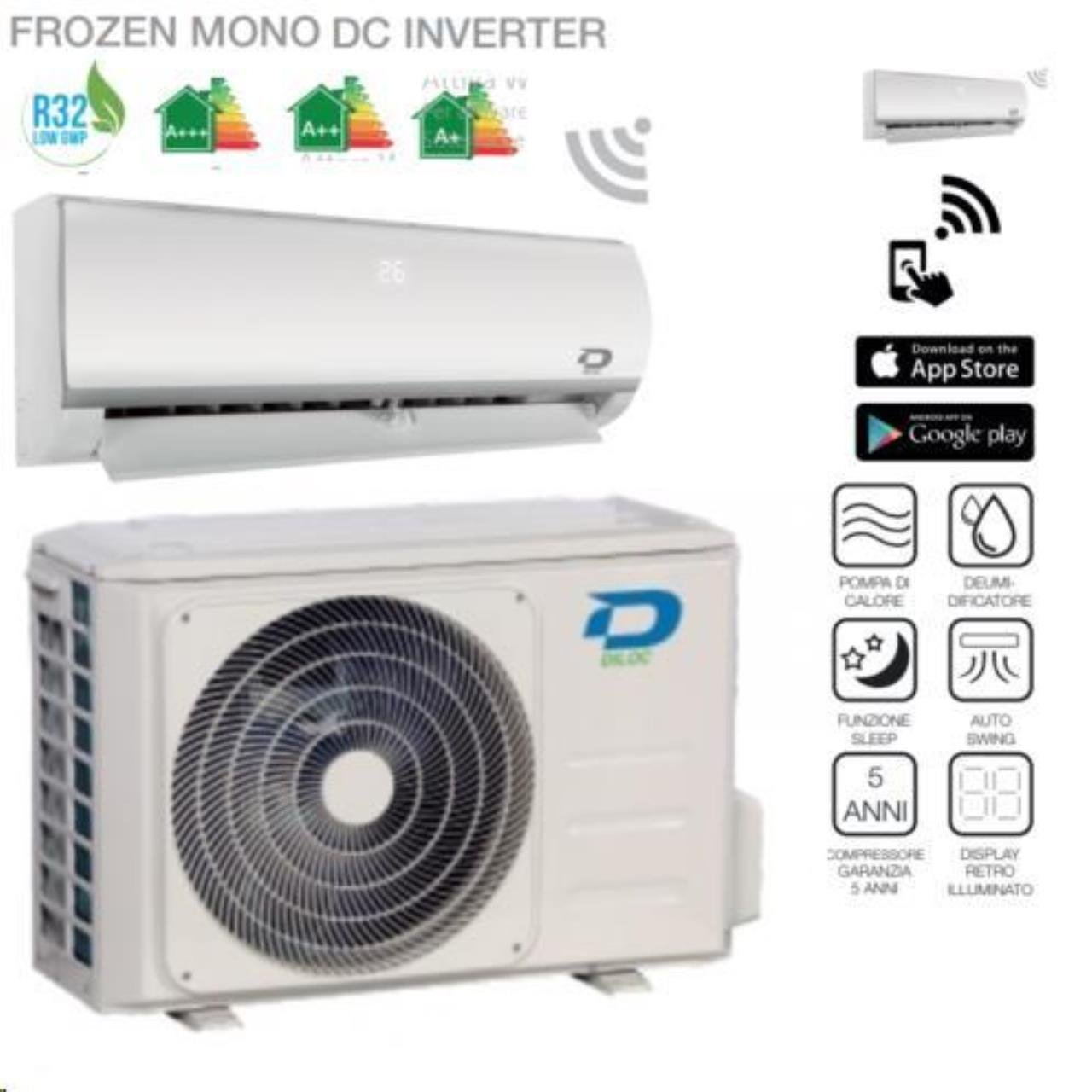 DILOC Frozen Aire Acondicionado 9000 BTU R32 - Climatizador Inverter de pared - D. frozen9 + D. frozen109 Compresor Sharp: Amazon.es: Bricolaje y ...