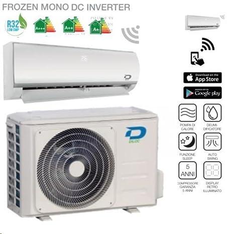 DILOC Frozen Aire Acondicionado 9000 BTU R32 – Climatizador Inverter de pared – D. frozen9