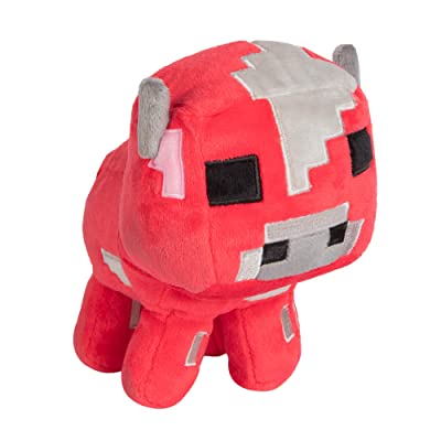 "JINX Minecraft Happy Explorer Baby Mooshroom Plush Stuffed Toy, Red, 5.25"" Tall: Toys & Games"