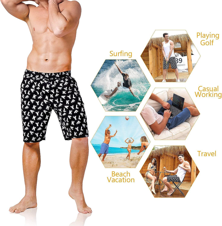 One Love Basketball Men Elastic Waist Surf Shorts Leisure Beach Work