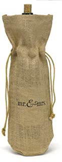 Hortense B. Hewitt Burlap Wine Bag, Mr. and Mrs. 35049