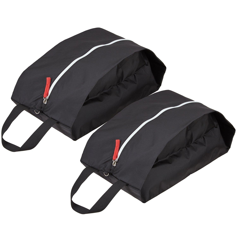 TRAVELTO set de 2 bolsas para zapatos de nylon resistente con cierre ideal para viajes - Shoe Bag/botinera/bolso para zapatos - con 2 años de garantía de devolución de dinero AS-524