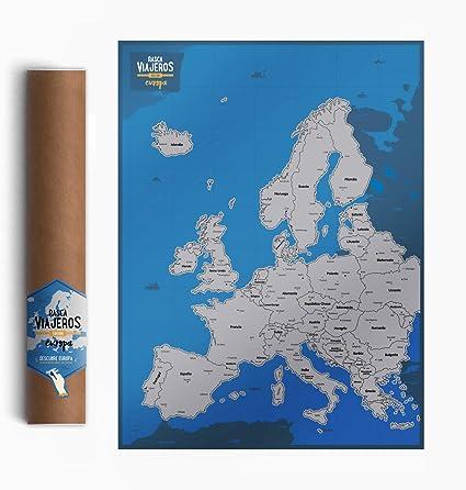 Mapa rascable Europa: Amazon.es: Oficina y papelería
