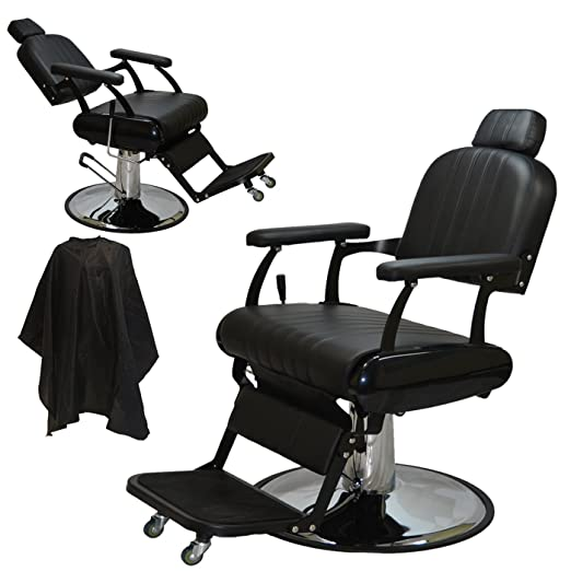 Extra Large Classic Style Reclining Hydraulic Barber Salon Cutting Chair