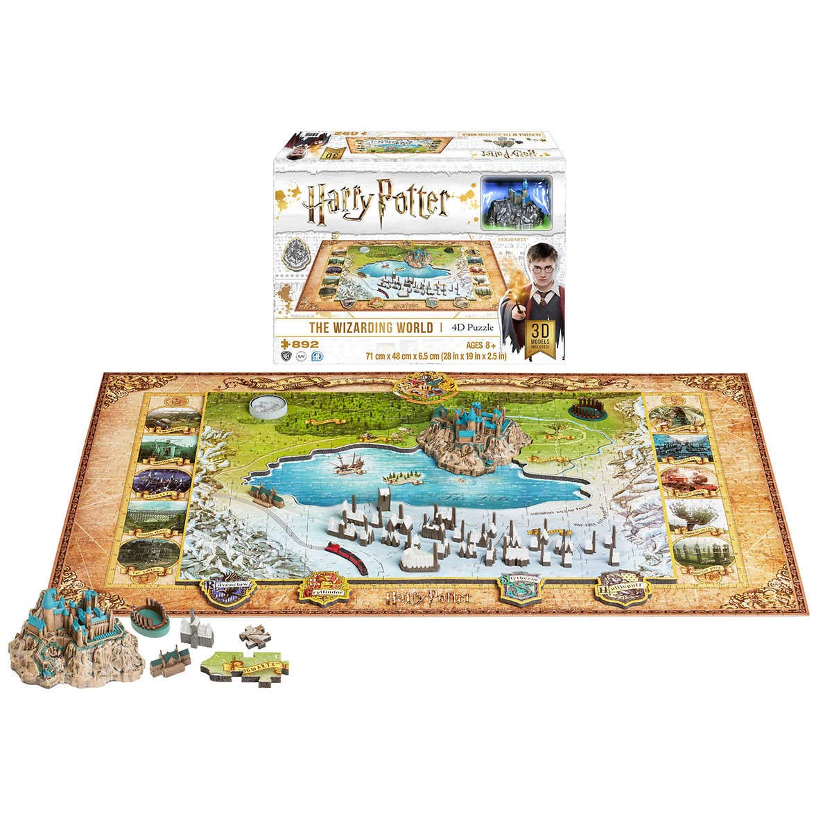 Harry Potter The Wizarding World 4D Puzzle with 3 Layers and Over 890 Pieces, Collector Puzzle for The Ultimate Harry Potter Fan! Generic