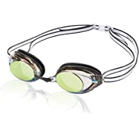 Speedo Women's Vanquisher 2.0 Mirrored Swim Goggles, Panoramic, Anti-Glare, Anti-Fog with UV Protection