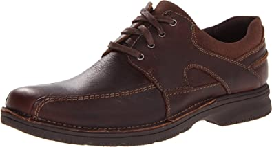 Clarks Men's Senner Blvd Oxford,Brown Tumbled Leather,11MUS