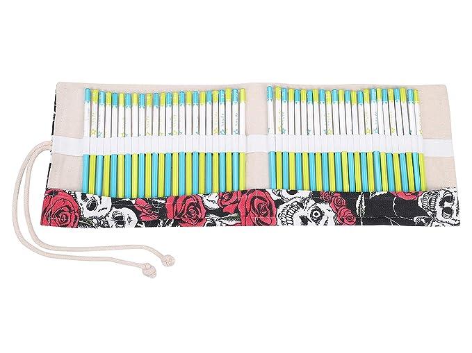 Bolsita de 48 lápices vintage de lona colorido plumón bolsa ...