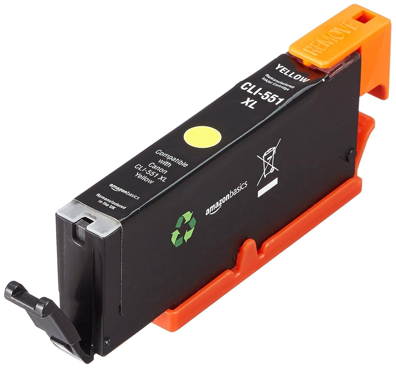 AmazonBasics - Cartucho de tinta regenerado, Canon CL551XL, amarillo: Amazon.es: Oficina y papelería