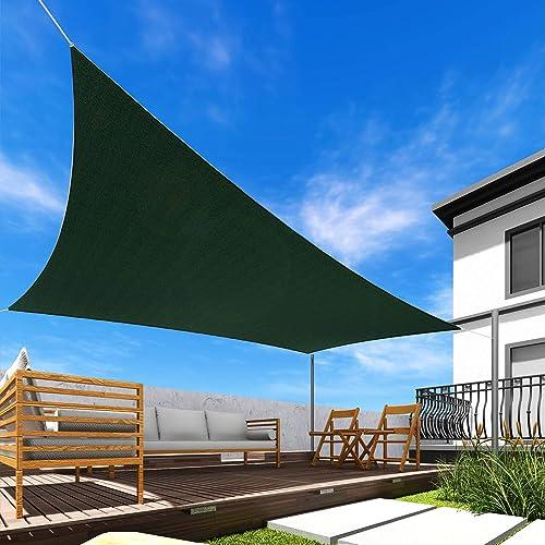 Windscreen4less 17' x 17' Sun Shade Sail Square Canopy
