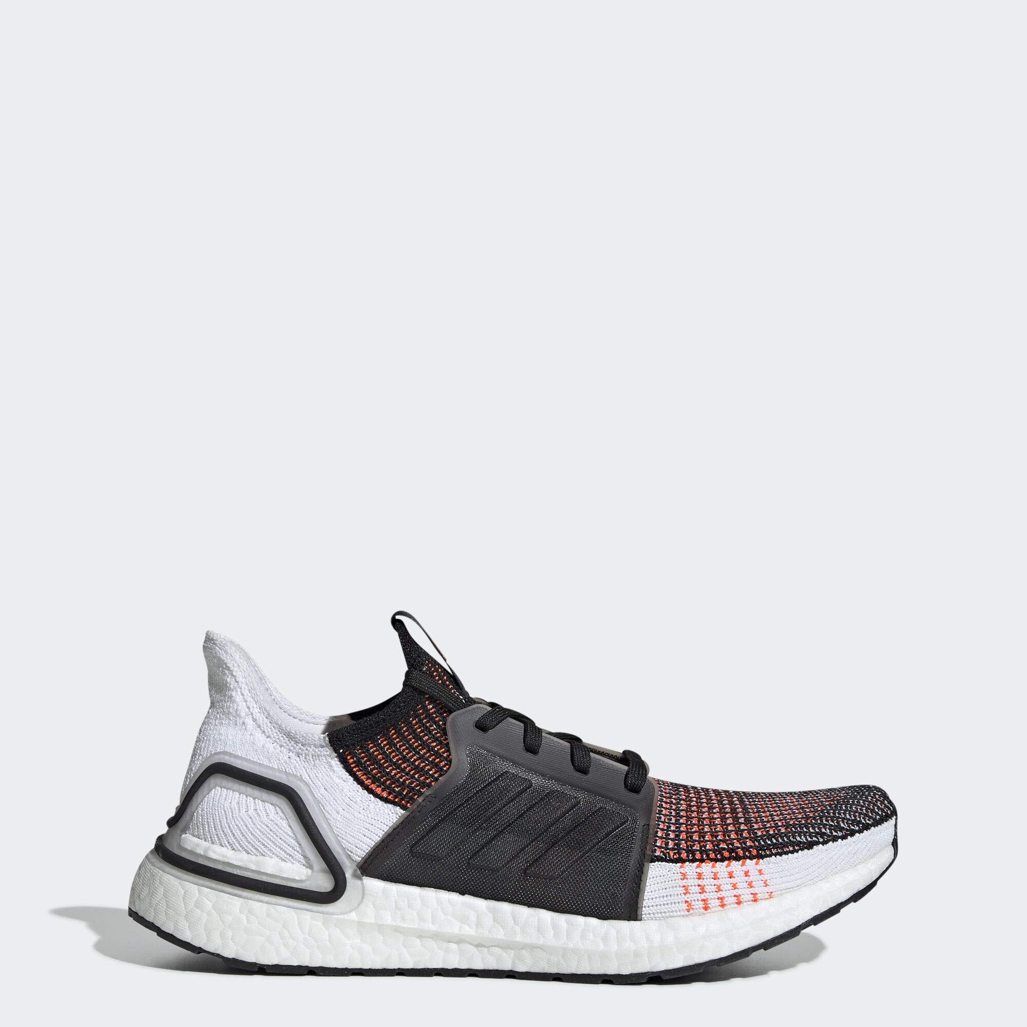 adidas Men's Ultraboost 19 Running Shoe, Black/White/Solar Orange, 10.5 M US by adidas