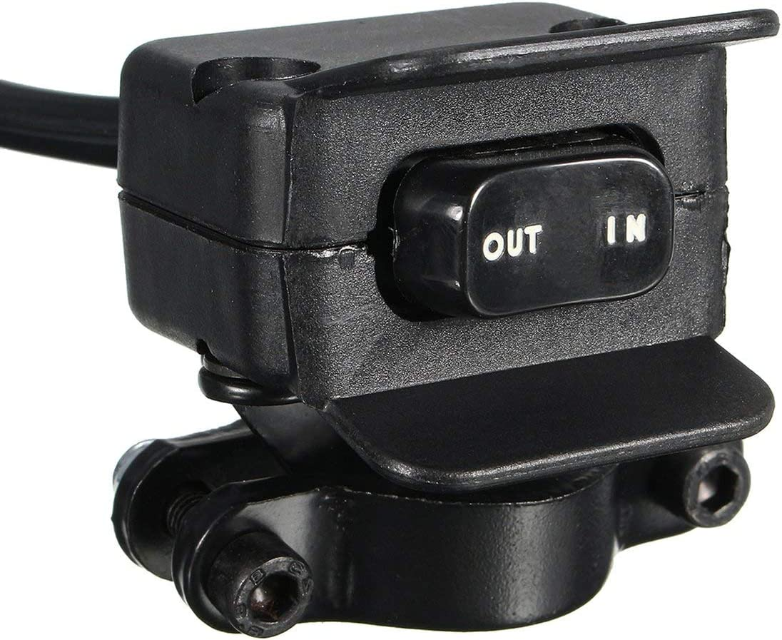 Moto VTT Noir UTV 3 m/ètres treuil Interrupteur /à Bascule Guidon Ligne de Commande avertisseur Kits 12V Complet Interrupteur scell/é connecteurs de Fournitures