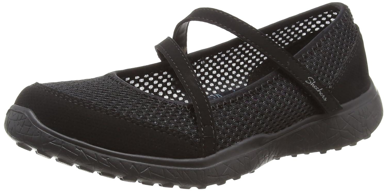 Skechers Microburst, Merceditas para Mujer 35.5 EU|Negro (Black)