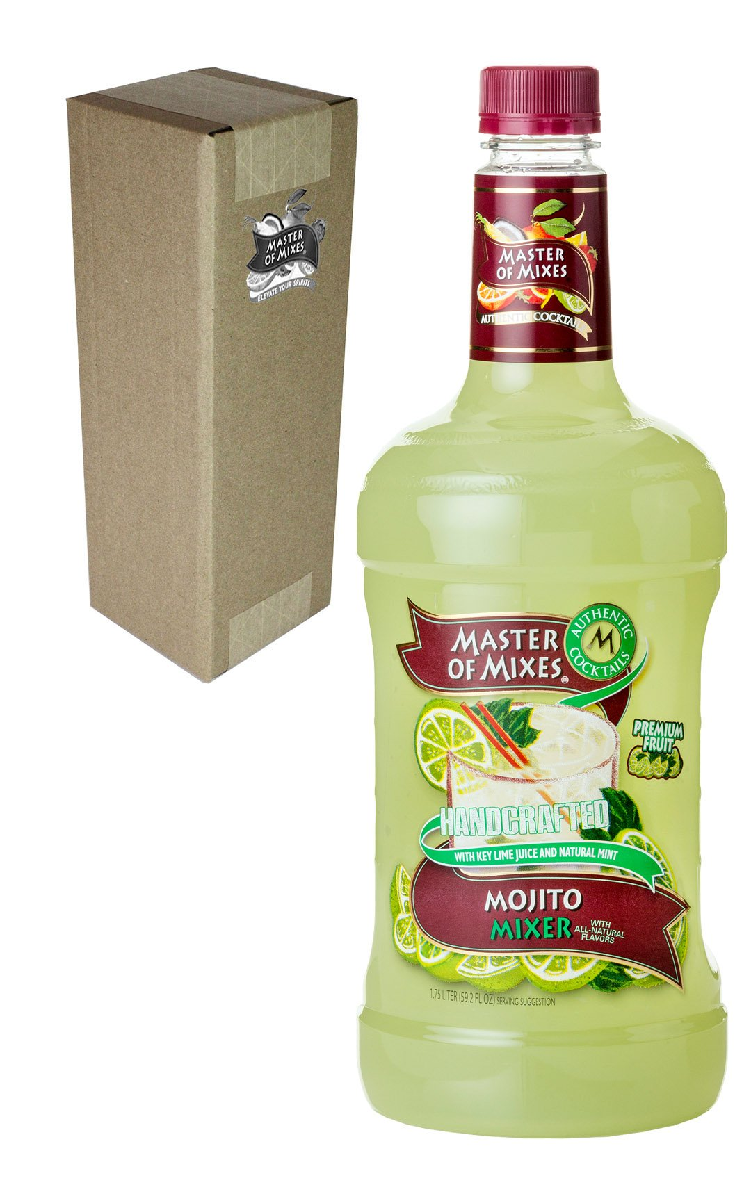 Master of Mixes Mojito Drink Mix, Ready To Use, 1.75 Liter Bottle (59.2 Fl Oz), Individually Boxed by Master of Mixes