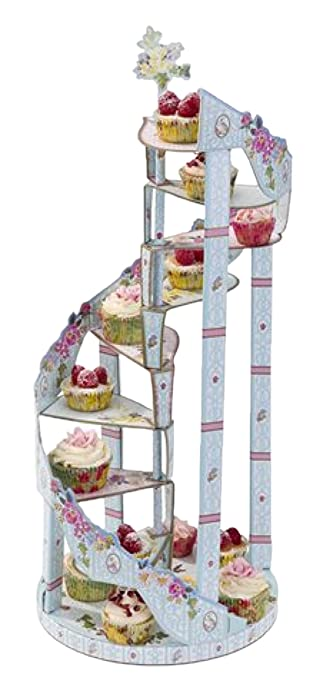 Confettery Party Dekoration Etagere Blumen In Pastelltonen 1