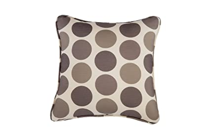 Dark Brown Throw Pillows.Direct Wicker Beige Polka Dot Decorative Pillow Cover Throw Cushion Case For Sofa Couch Begie Color Fabric With Dark Light Brown Accent Woven Dots